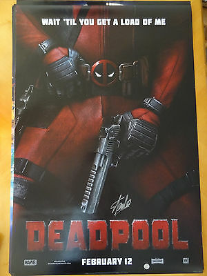 Marvel Deadpool Movie Original DS 27 x 40 Poster Print - Stan Lee Signed COA