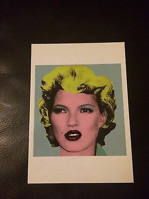 Rare Kate Moss Banksy Crude Oil Postcards 2005 Mint Classic Image