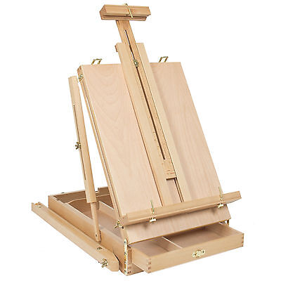 French Easel Wooden Sketch Box Portable Folding Art Artist Painters Tripod New a