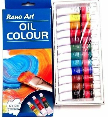 Artist's 12ml Oil Paints Set of 12 Assorted Colors Artist Art High Quality