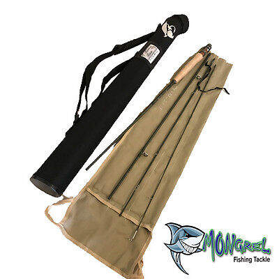 Fly Fishing Rod Rivers Run Series High Quality 3 WT 8 foot 4 piece + bag & tube