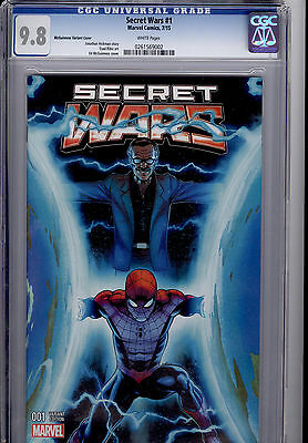 SECRET WARS #1 McGUINNESS STAN LEE VARIANT COVER CGC 9.8