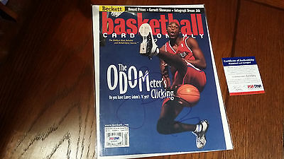 Lamar Odom SIGNED Autographed March 2000 Beckett Magazine Cover w/ PSA COA