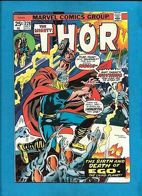 Thor #228 Ego The Living Planet Hercules Marvel Comics October 1974 Rich Buckler