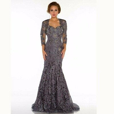 Lace Plus Size Mother Of The Bride Dress With Jacket Mermaid Evening Gowns HD183