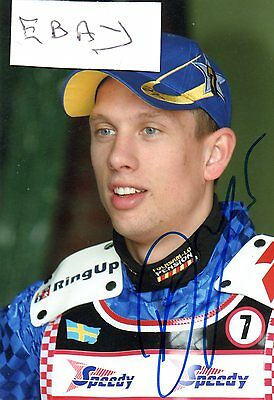 Signed Speedway Photo. Andreas Jonsson (Lakeside)