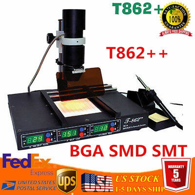IR T862++ Infrared IRDA Welder BGA Heating Rework Station Infra Red Solder MACH3