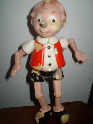 Vintage Old Celluloid  Plastic Buratino Pinocchio Toy Ussr 1950-Russia
