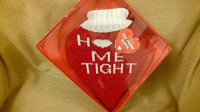 valentines day gift / heart shaped hot water bottle + cover