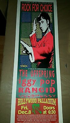 Iggy Pop The Offspring Rancid 1995 36X13 Poster Hollywood Ca Rock For Choice
