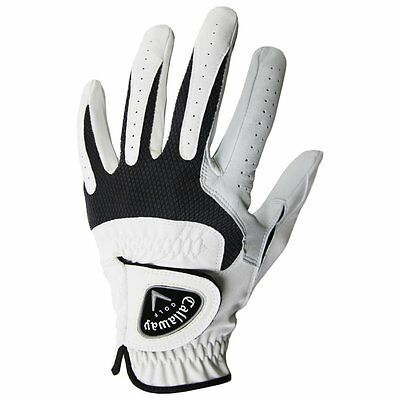 NEW!! Callaway Tech Series Leather Golf Medium Left Gloves for Right Handed Mens