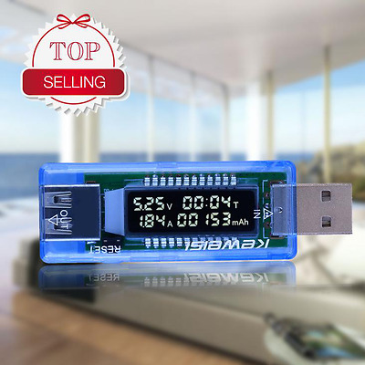 New USB Volt Current Voltage Doctor Charger Capacity Tester Meter Power Bank Pah