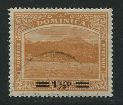 Dominica: 1920 1½d surcharge on 2½d stamp SG60 Used SS124