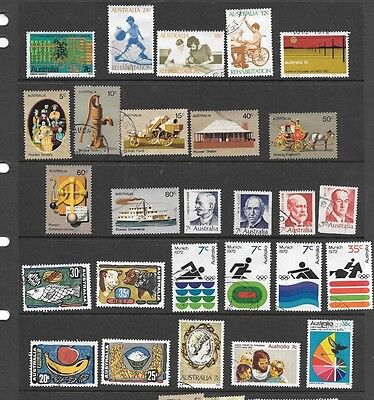 Stamps Aust Decimal 1972 Complete Year  Fine Used 27 Stamps