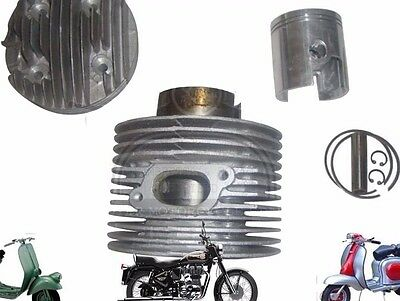 NEW LAMBRETTA 225 cc SCOOTS LARGE BLOCK PERFORMANCE ALLOY CYLINDER KIT @CAD