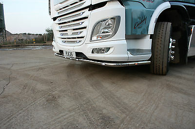 Stainless Steel Low Light Bar With 9 Marker Led For Daf Xf 106