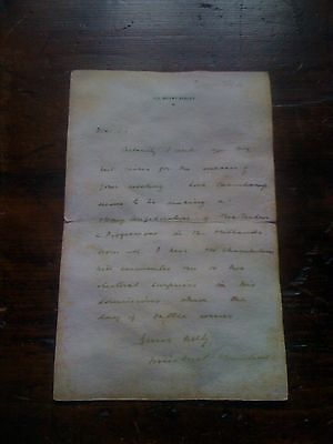 Winston Churchill, replica letter originally by hand on the 7th of Januar 1904.