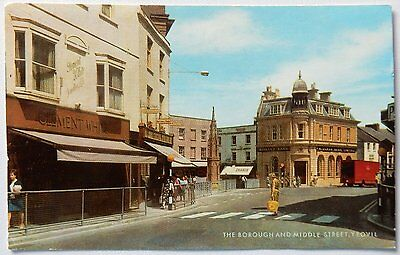Postcard - The Borough, Yeovil - unposted - 1960s