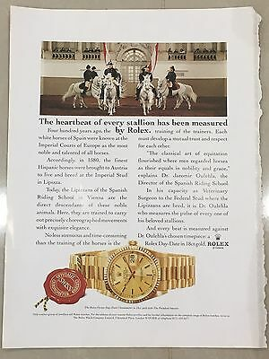 1990's ROLEX Watch A4 Colour Advert L20