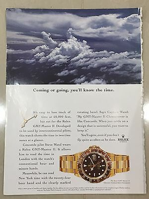 1990's ROLEX Watch A4 Colour Advert L21