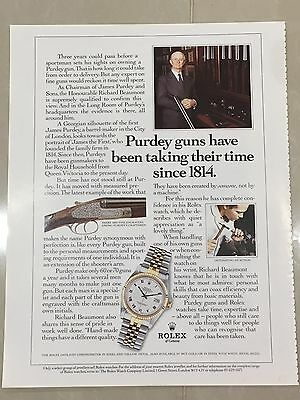 1990's ROLEX Watch A4 Colour Advert L26