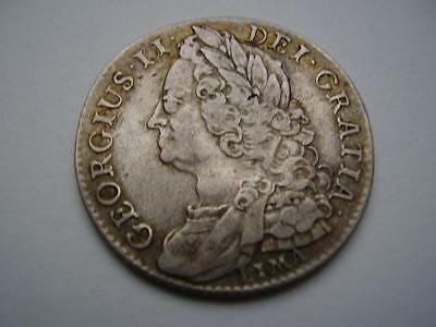 1745 Lima  George II Shilling 5.9 grams Very Fine