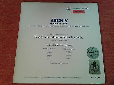 Bach Suites for Cello solo 3 & 4 Pierre Fournier DGG Archiv red stereo