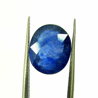 4.80 Ct Certified Natural Blue Sapphire Loose Oval Gemstone Stone - H 117708
