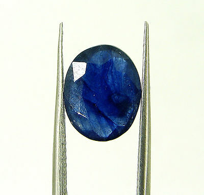 3.73 Ct Certified Natural Blue Sapphire Loose Oval Gemstone Stone - H 117621
