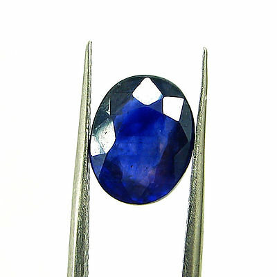 3.81 Ct Certified Natural Blue Sapphire Loose Oval Gemstone Stone - H 117731