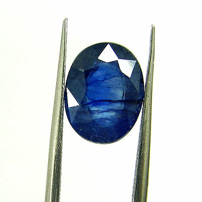 4.06 Ct Certified Natural Blue Sapphire Loose Oval Gemstone Stone - H 117721