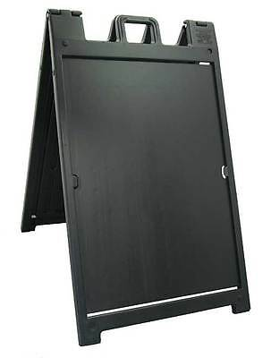 "The ""Signicade Deluxe"" Portable Sign Stand, Color=Black"
