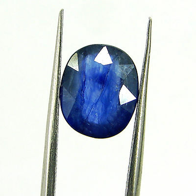 3.93 Ct Certified Natural Blue Sapphire Loose Oval Gemstone Stone - H 117681