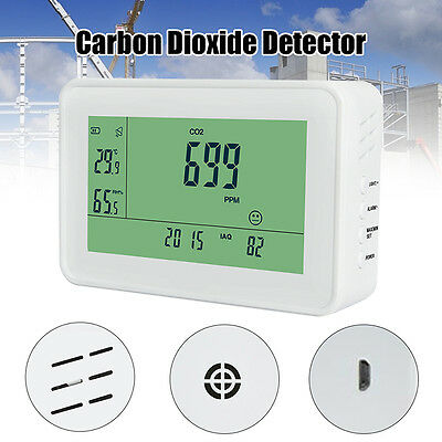 Carbon Dioxide Detector CO2 Monitor Temperature Humidity Meter Professional Home