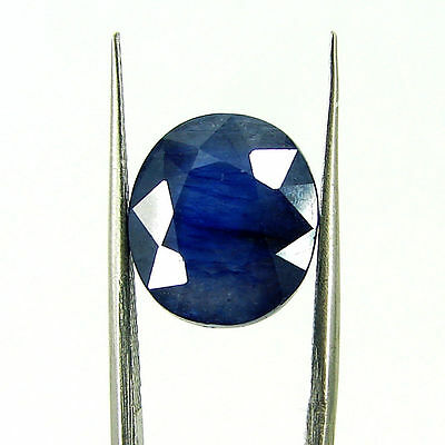 8.71 Ct Certified Natural Blue Sapphire Loose Oval Gemstone Stone - H 117661