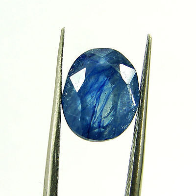 3.91 Ct Certified Natural Blue Sapphire Loose Oval Gemstone Stone - H 117631