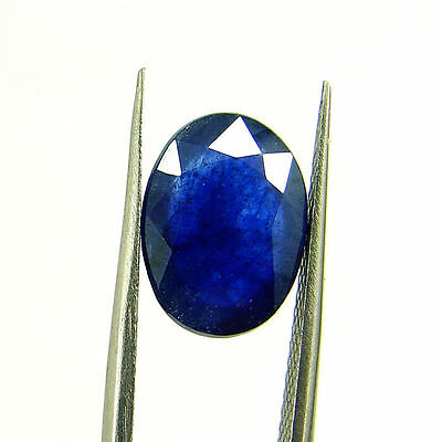 4.42 Ct Certified Natural Blue Sapphire Loose Oval Gemstone Stone - H 117622