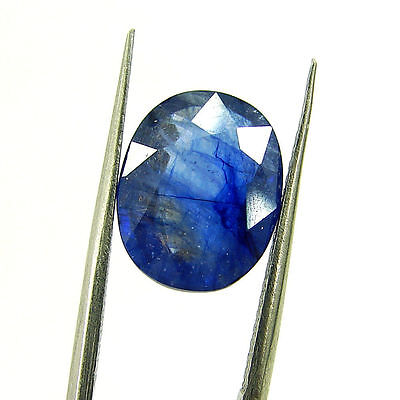 5.22 Ct Certified Natural Blue Sapphire Loose Oval Gemstone Stone - H 117686