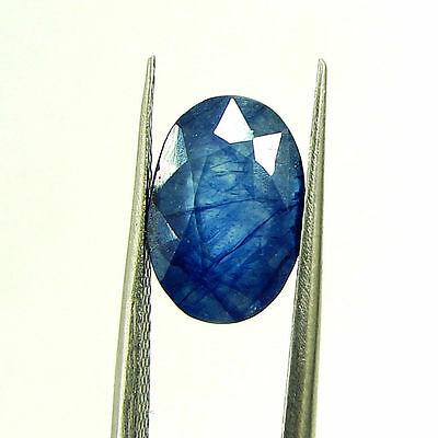 4.61 Ct Certified Natural Blue Sapphire Loose Oval Gemstone Stone - H 117641
