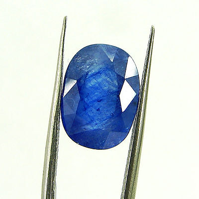 6.02 Ct Certified Natural Blue Sapphire Loose Oval Gemstone Stone - H 117685