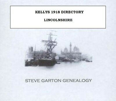 Kellys 1918 Directory Of Lincolnshire - Genealogy Cd