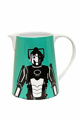 1 Litre Jug With Handle Stoneware Official Doctor Who Cyberman Kitchen Office