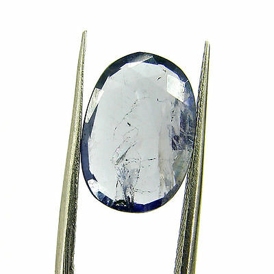 3.26 Ct Certified Natural Blue Iolite Oval Untreated loose Gemstone  - H 117794