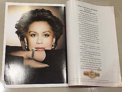 1990's ROLEX Watch A4 Colour Booklet Advert L52 - Dame Kiri Te Kanawa