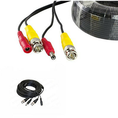 50ft CCTV BNC Video DC Power Cable Plug f DVR Cord Surveillance Security Camera