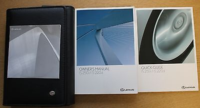 LEXUS IS 250 IS 220d HANDBOOK OWNERS MANUAL WALLET 2009-2010 PACK 11292 !