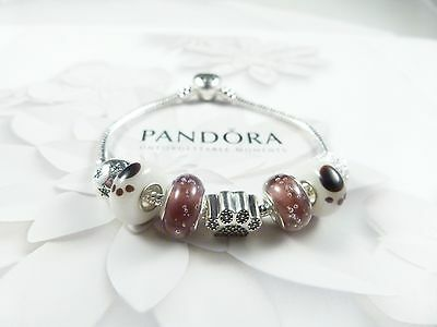 Authentic Pandora bracelet with Pet Paw beads, PERFECT Valentines gift