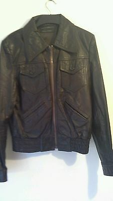 Vintage Men's Bomber Jacket - Genuine 1980's Leather - size 40ins
