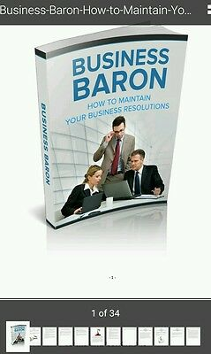 Business baron resolution and focus on your goals Self Help ebook on cd