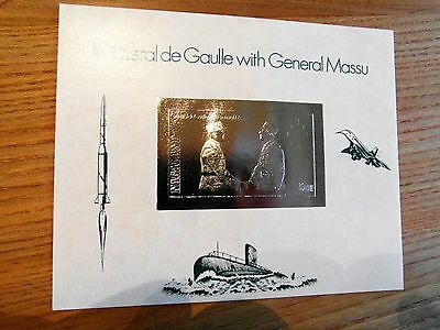 Weltraum SPACE  NAGALAND ** Bloc in silver Charles de Gaulle / Concorde / U-Boot
